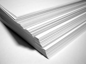 Photo of a stack of documents